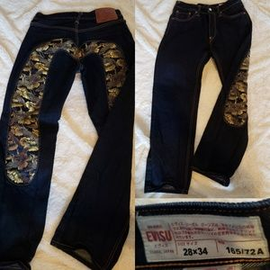 EVISU Embroidered jeans